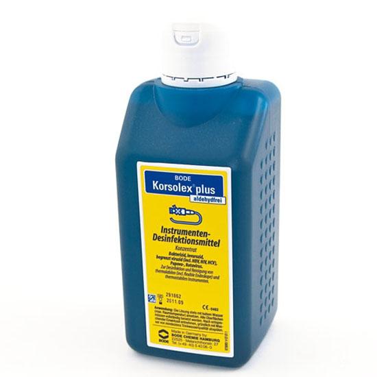 2 litre blue bottle of Korsolex instrument disinfectant
