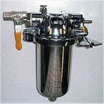 colonic irrigation stainless steel filter assembly complete with shut off valve