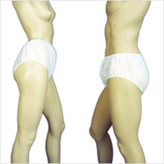 Disposable unisex briefs for modesty purposes only