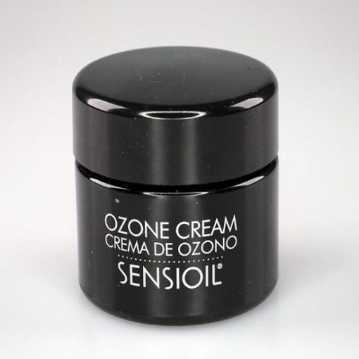 ozone cream in black tub