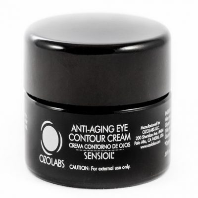 anti ageing eye contour cream in black tub