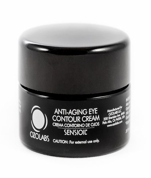 anti ageing organic eye contour cream in black tub 15cc