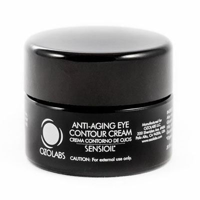 Black tub of Ozolabs Anti-Ageing Eye Contour Ozone Cream