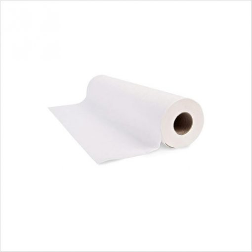 disposable white paper couch roll 2ply 50cm wide 40m long